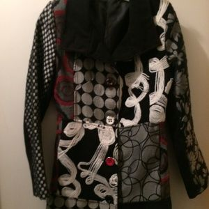 Cute Coat Made in Italy, Wool, Size Small